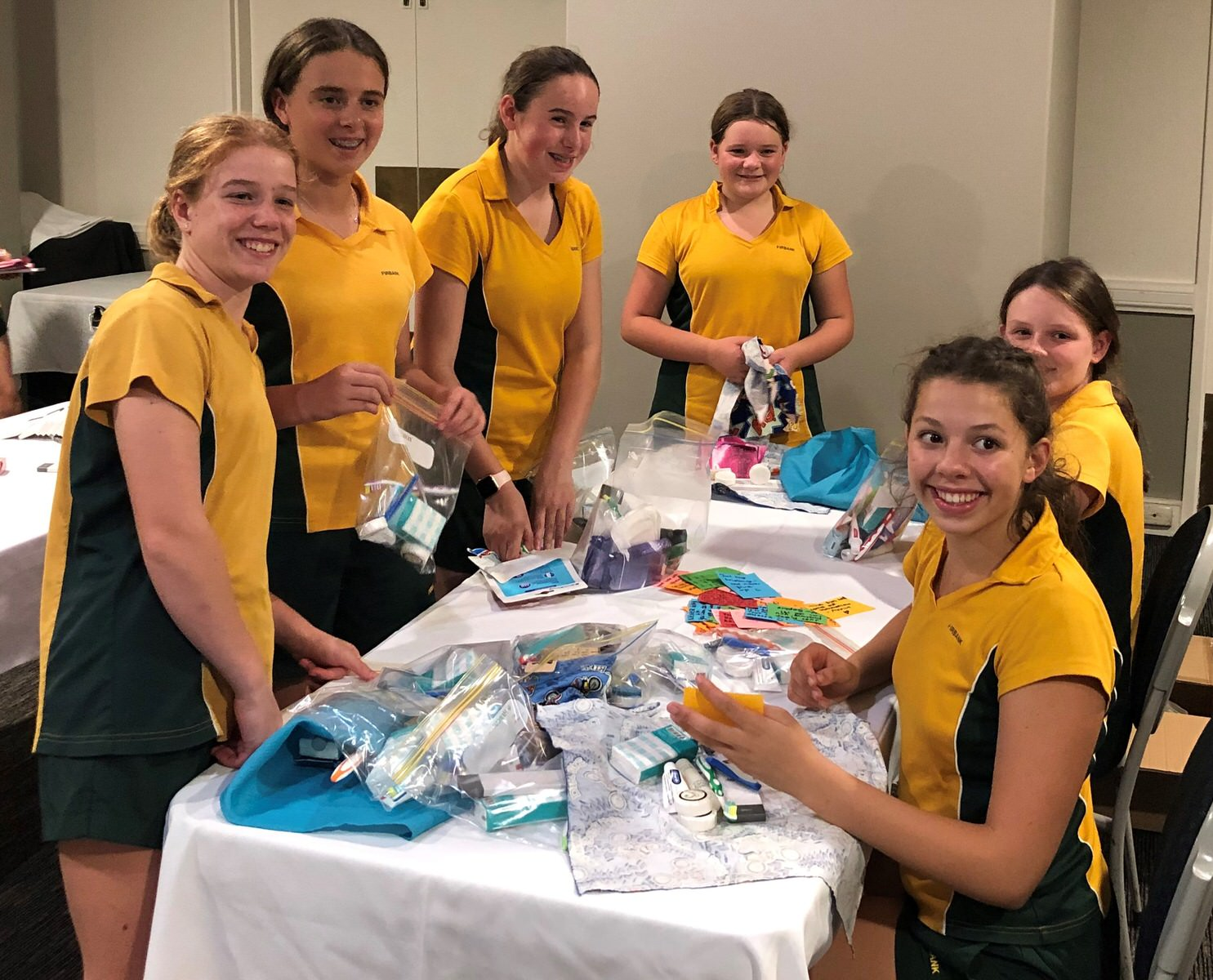 Service project - hygiene packs
